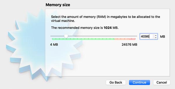 Set RAM for Virtual Machine (macOS)