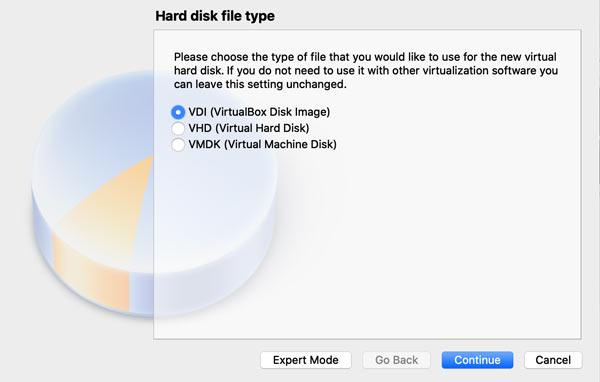 Choose Hard Disk File Type (macOS)