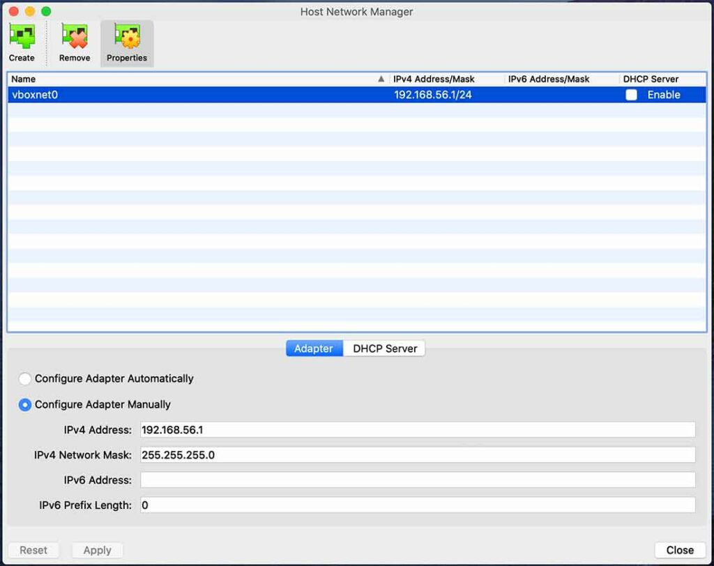 Host Network Added (macOS)