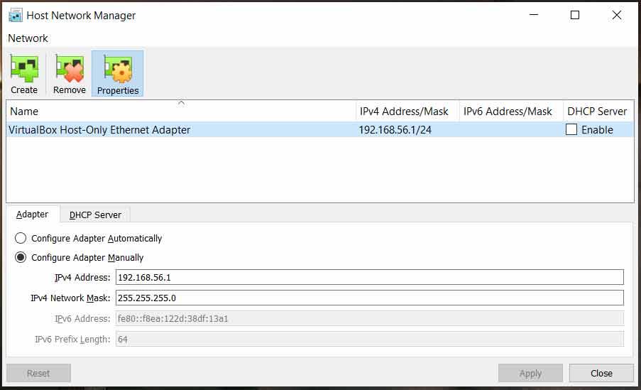 Host Network Added (Windows)