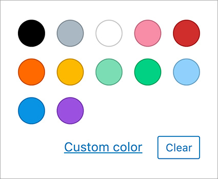 Default Core Color Palette